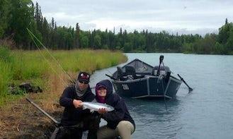 20ft Drift Boat/Power Boat Charter in Kenai, Alaska