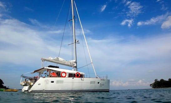 Sailing Charter 40' L400 S2 Cruising  Catamaran In Serapong, Singapore
