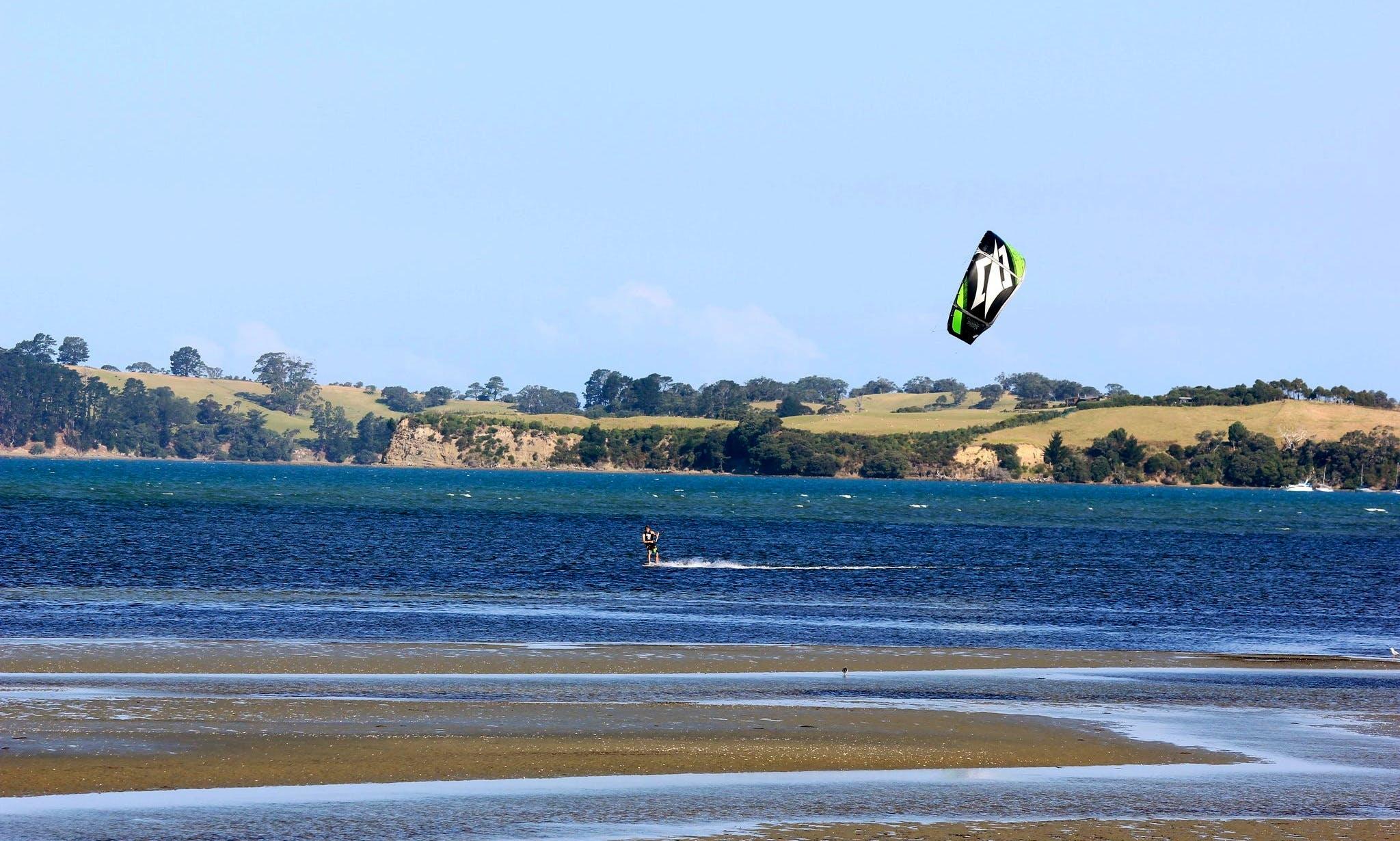Kitesurfing Lesson In Karaka
