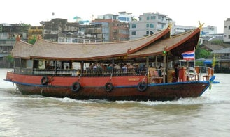 Rice Barge boat   in Bangkok