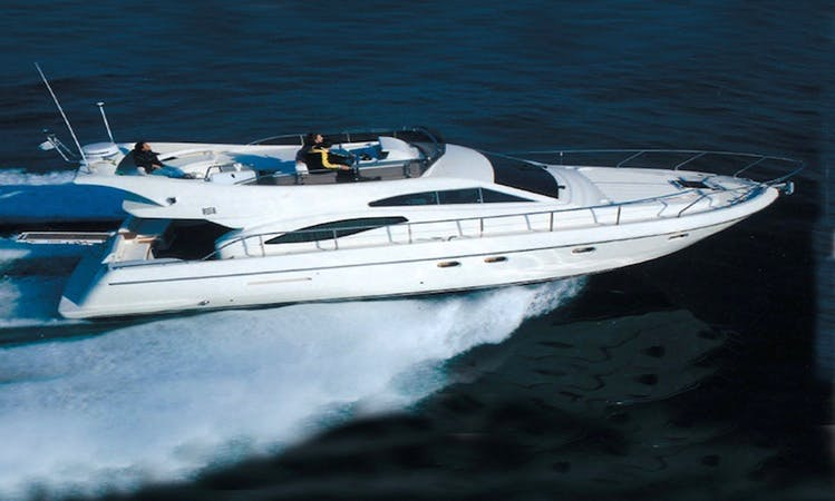 Charter 44' Ferretti Yacht in Tropea