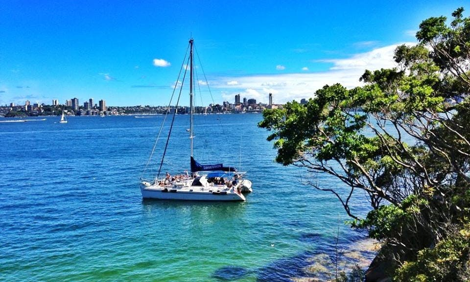 Affordable Sydney Harbour Cruises on 50' Sailing Catamaran Charter