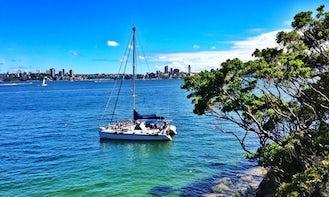 Affordable Sydney Harbour Cruises on 50' Sailing Catamaran Charter