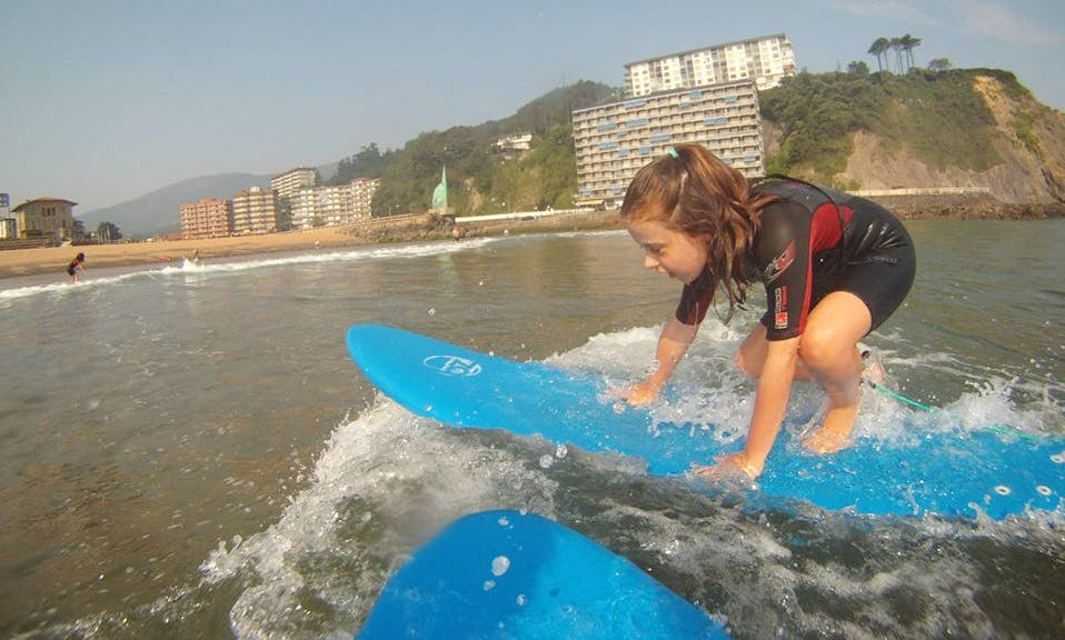 Surfing Initiation & Advanced Lessons in Bakio