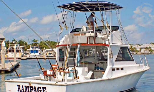Fishing Charter on 36' Sport Fisher Yacht In Key West, Florida