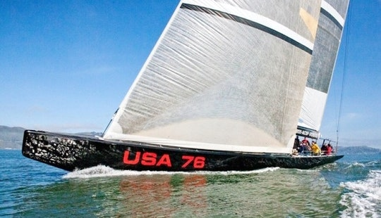 84ft 'usa76' America's Cup Yacht Charter In San Francisco, California