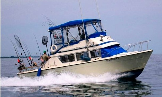35ft Chris Craft Boat Fishing Charter In Waukegan