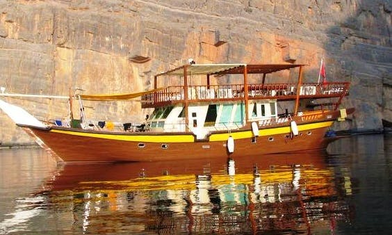Brown Dhow in Dibba Oman