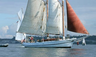 Captained Charter On 63ft Sailing Schooner from Seattle Washington