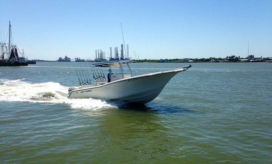 27' Seaplay Boat Harbor Tour Charter In Galveston