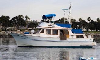 Charter 40' Trawler Hershine BellBuoy in San Diego, California
