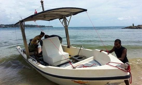 Dive Boat  In  Sri Lanka.