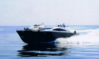 Captained Charter on Italcraft 105 Power Mega Yacht in Sardinia, Italy