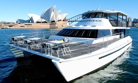 The Ultimate Sydney Harbour Function On 66' Morpheus Power Catamaran Charter