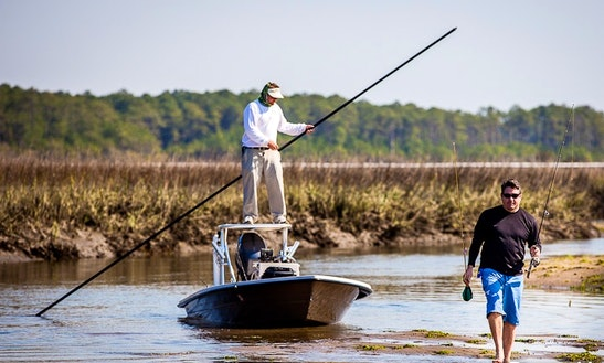 Enjoy Fly Fishing On Maverick Center Console In Georgetown, South Carolina