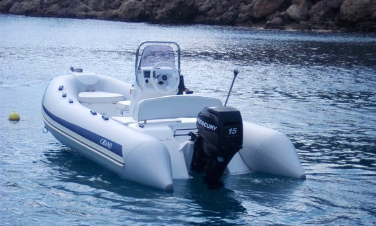 12' Grand 380 Gl Rib Rental In Rodos, Greece