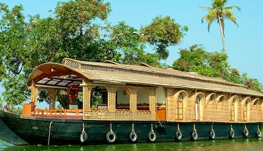 Go Sailing With A Houseboat Charter In Alappuzha, India For Up To 4 Persons