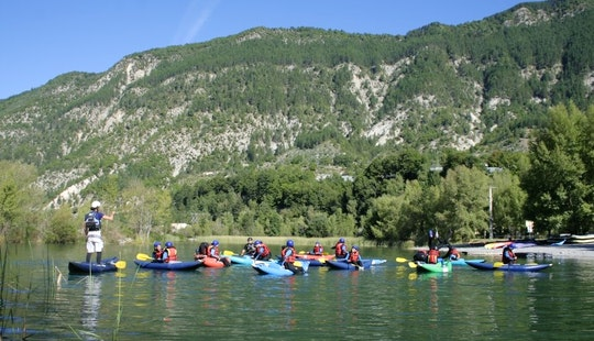 Guided Kayak Rafting Through The Many Gorges In Castellane