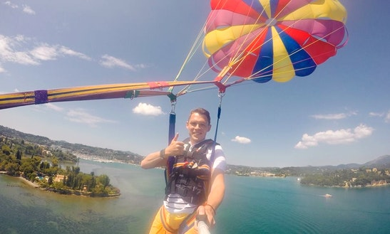 Paragliding In Corfu, Greece