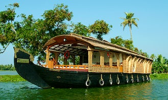 Overnight Charter in Four Bedroom Houseboat in Alappuzha