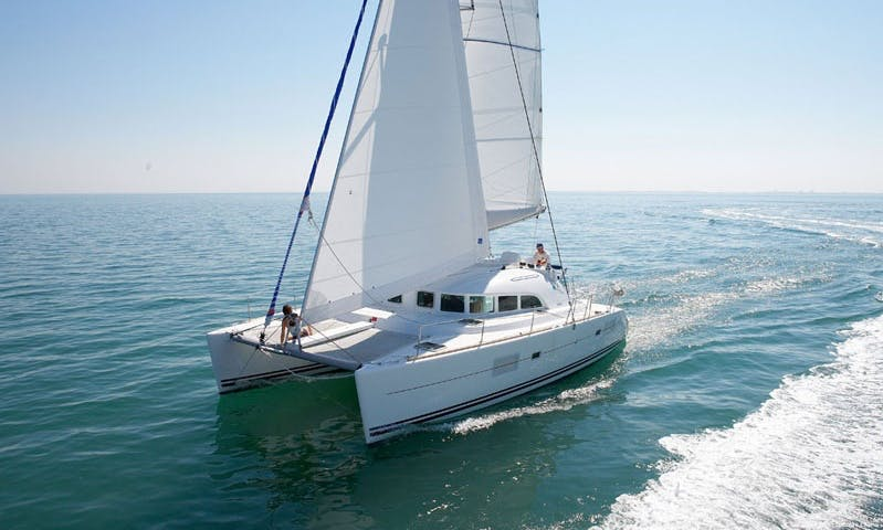 Luxurious ''LAGOON 380'' Cruising Catamaran Charter in Spain