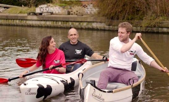 Canoe Hire In Limehouse Basin, London