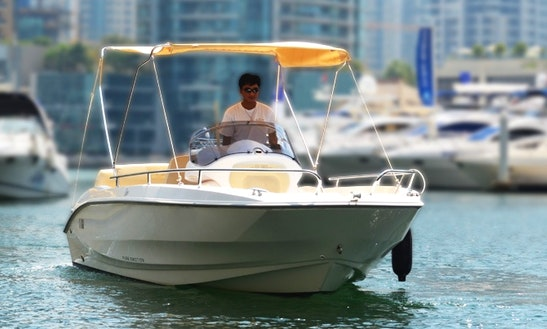 Enjoy Dubai, United Arab Emirates On 19' Sessa Marine Key Largo One Deck Boat