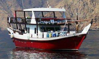 Red Dhow in Dibba Oman