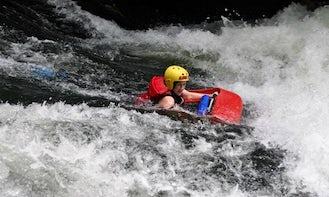 White Water Sledging Trips in Tikitere