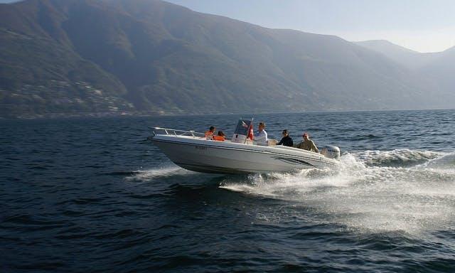 Fiart 20 Deck Boat Rental & Trips in Ascona, Switzerland