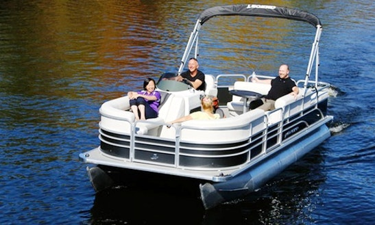 Small Pontoon Rental In Clear Lake Township