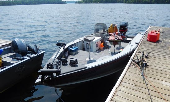 Jon Boat Fishing Charter In Camp Narrows Lodge