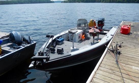 Jon Boat Fishing Charter In Camp Narrows Lodge
