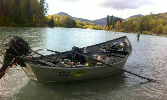20' Jon Boat Rental In Cooper Landing, Alaska