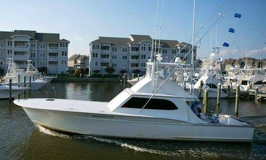 55ft Sport Fisherman Boat Charter In Nags Head, North Carolina