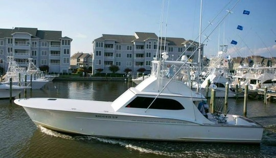 55ft Sport Fisherman Boat Charter In Nags Head, North Carolina