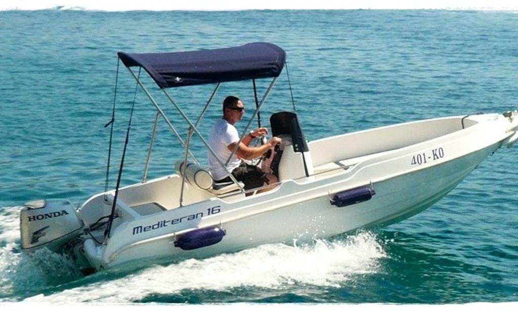 Rent Mediteran 16 Motor Boat In Korčula | GetMyBoat