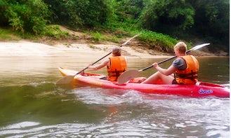 Kayak in Rainforest River Sunai Borneo