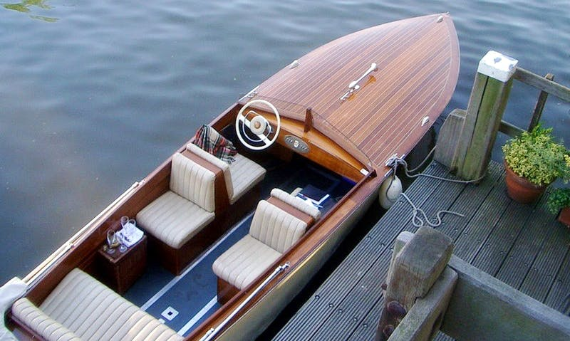 """23ft """"El Tigre"""" Deck Boat Charter in Berlin, Germany"""