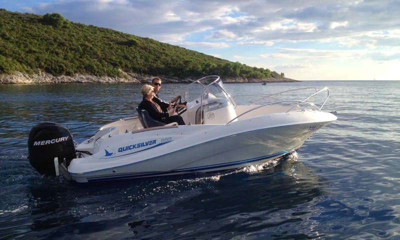 Quicksilver 555 Deck Boat Rental (With or Without Skipper) in Marina