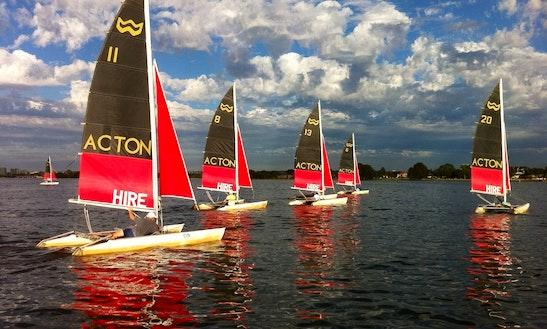 Enjoy Windrush 14' Beach Catamaran Hire In South Perth, Western Australia