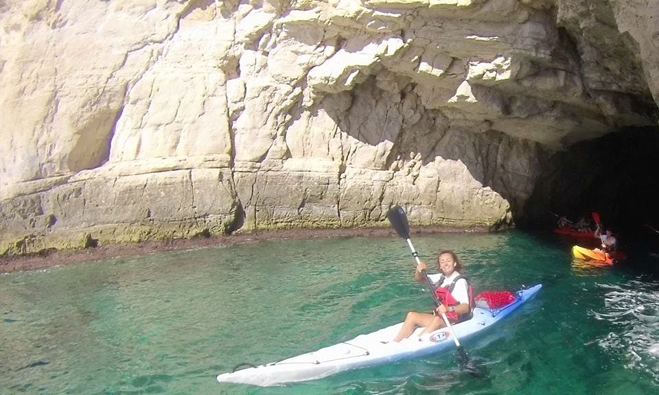 Paddle Out a Single Kayak along the Almeria Gulf from Níjar, Spain
