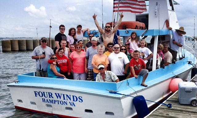 "42ft ""Four Winds"" Fishing Trip Charter With Captain John In Hampton, Virginia"