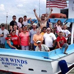 42ft four winds fishing trip charter with captain john for Fishing charters hampton va
