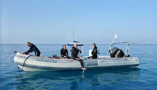 Exciting Diving Trips In Ajaccio, France On A 24' Rib