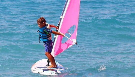 Wind Surfing Lesson In Rodos