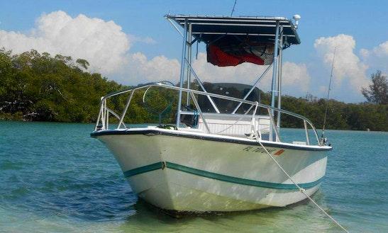 Enjoy Fishing In Fort Myers Beach, Florida On 27' Carolina Skiff