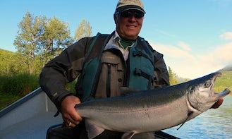 Guided Fly Fishing, Cooperlanding Alaska