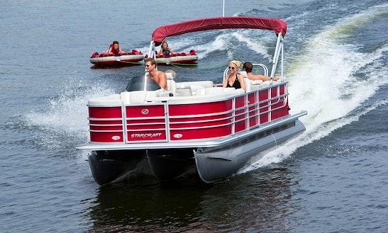 Ski Barge Pontoon Rental In Hot Springs Township