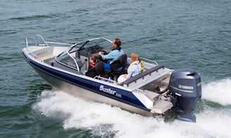 Rent Buster L30-40 HK Powerboat In Aakirkeby